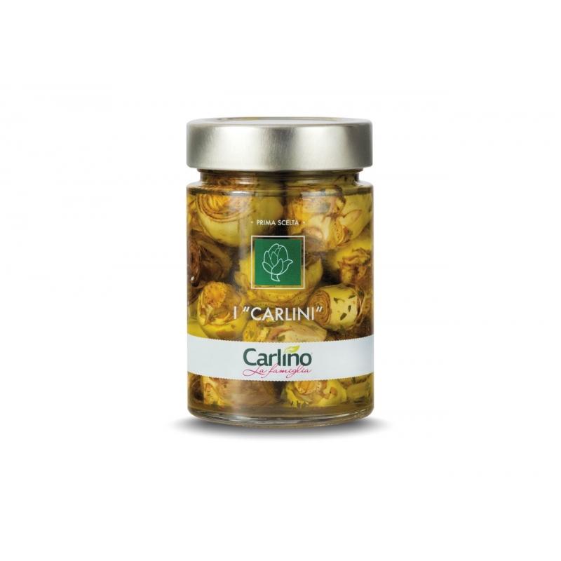 Carlini artichokes in olive oil, 280 gr - Pug
