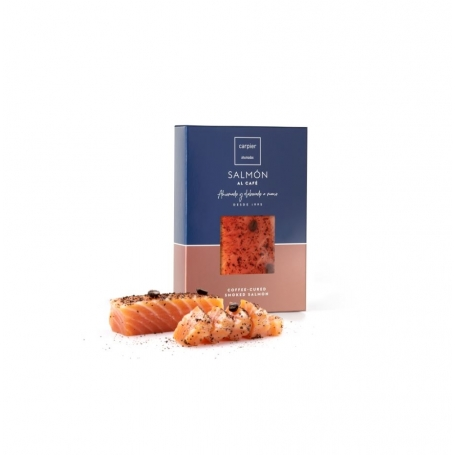 Heart of smoked salmon fillet flavored with coffee, 150 gr - Carpier