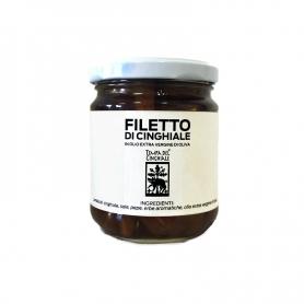 Filetto di cinghiale sott'olio, 212 ml - La Timpa del Cinghiale