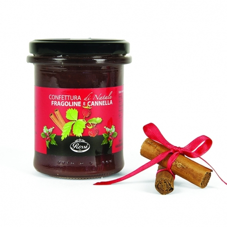 Strawberries jam and cinnamon, 215 gr. - Rossi - Confetture e marmellate