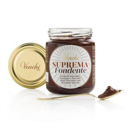 Supreme Cream of extra dark chocolate spread and hazelnuts, 250 gr. - Venchi
