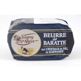 "Burro ""de Baratte"" salato francese ai cristalli di sale di Guérande, 250 gr - Coopérative Isigny Sainte Mère"