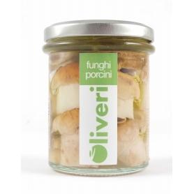 Funghi porcini sott'olio interi, 190 gr - Oliveri - Funghi sottolio
