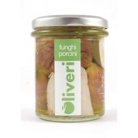 Funghi porcini sott'olio tagliati, 190 gr - Oliveri - Funghi sottolio