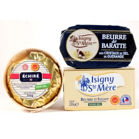 Selection of French salted butter, 3 pcs.