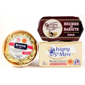 Selection of French sweet butter, 3 pcs. - Burro