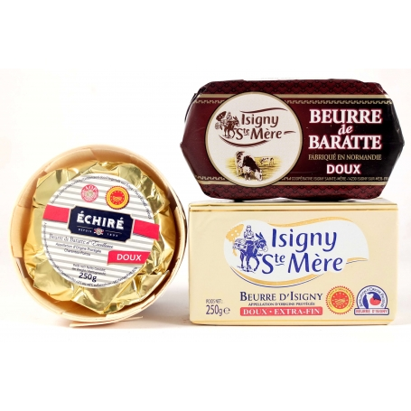 Selection of French sweet butter, 3 pcs.