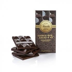 Tavoletta Di Cioccolato Fondente 75% Cuor Di Cacao, 100g - Venchi