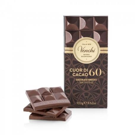 Tavoletta di cioccolato fondente 60%, 100g - Venchi