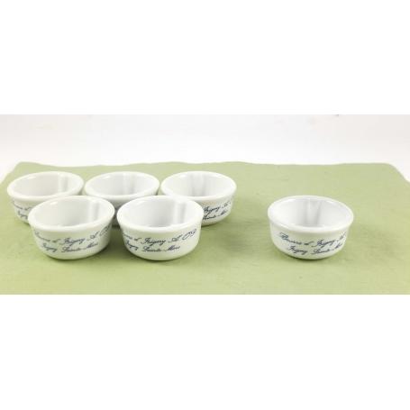 Mini Burriera in ceramica per burro monoporzione - 6pz