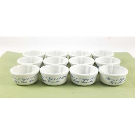 Mini Burriera in ceramica per burro monoporzione - 12pz