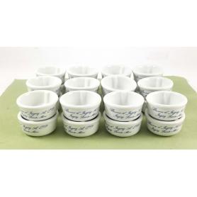 Mini Burriera in ceramica per burro monoporzione - 24pz - Stoviglie e Oggettistica