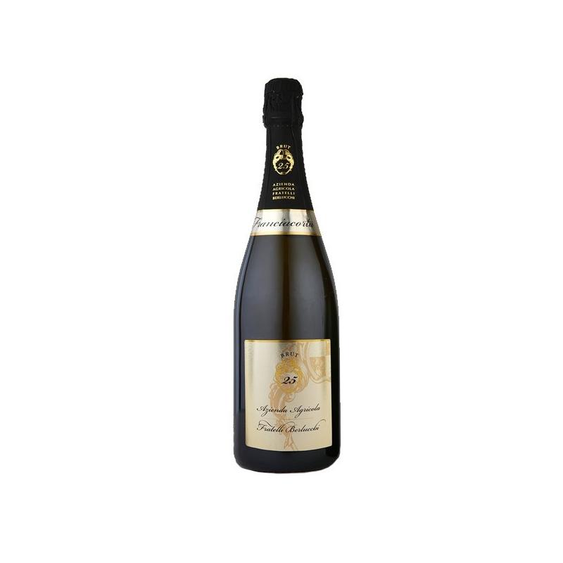 Fratelli Berlucchi Franciacorta - Spumante Brut 25 °, l. 0,75 1 Flasche Beutel.