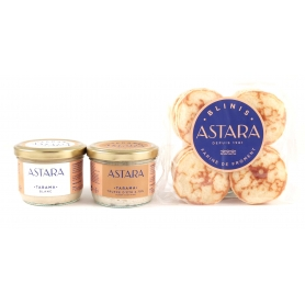 TARAMA + BLINIS (3pz) - Caviale Maison Astara
