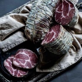 Coppa nostrana intera, 1,604 kg. ca - Antico Salumificio Castiglione - Salumi stagionati