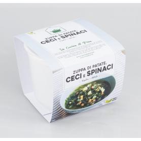 Zuppa di patate, ceci e spinaci, 500 gr - La Cucina di Pina