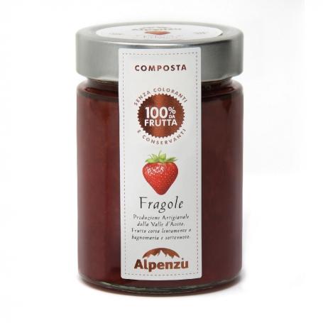 Strawberry compote 350 gr - Alpenzu