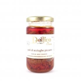 Paté piccante di acciughe, 200 gr - Delfino Battista