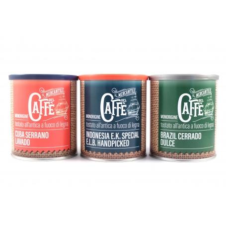 Tris Monorigine Caffè per Moka, 3 pz - Caffè Ronchese