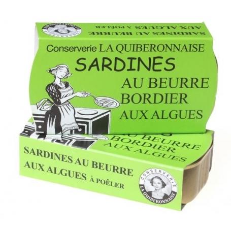Sardine al burro Bordier alle alghe, 115 gr - 2 confezioni