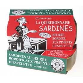 Sardine al burro Bordier al peperoncino d'Espelette, 115 gr - 2 confezioni