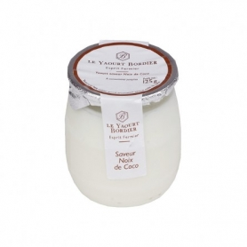 Yogurt Bordier al cocco, 125 gr - 6 vasetti