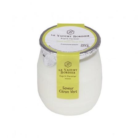Yogurt Bordier al lime, 125 gr - 6 vasetti