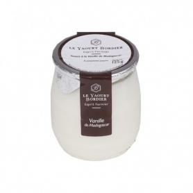 Yogurt Bordier alla vaniglia del Madagascar, 125 gr - 6 vasetti