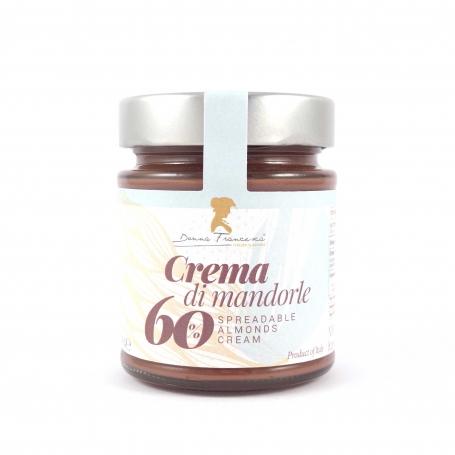 Crema di Mandorle 60% e cacao, 230 gr - Donna Francesca