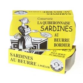 Sardine al burro Bordier, 115 gr - 2 confezioni - Burro Bordier