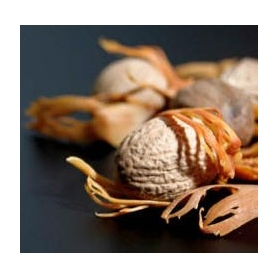 Nutmeg, whole with cabinet, Ceylon, 500 gr