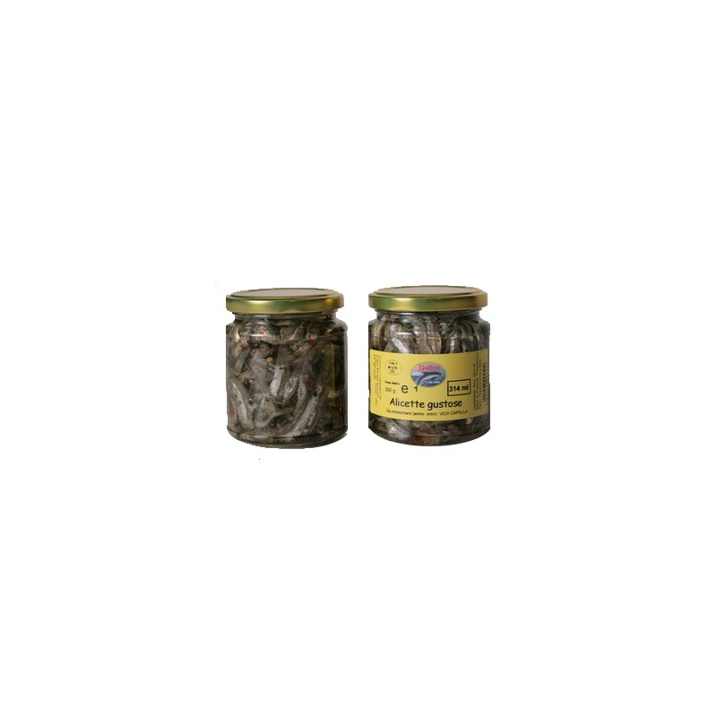 anchois savoureux, 314 ml - Delfino Battista