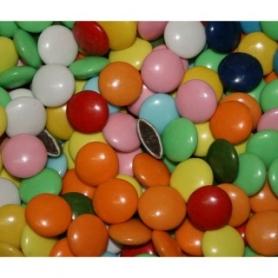Pralinen bedeckt mit gefärbtem Zucker, 500 gr