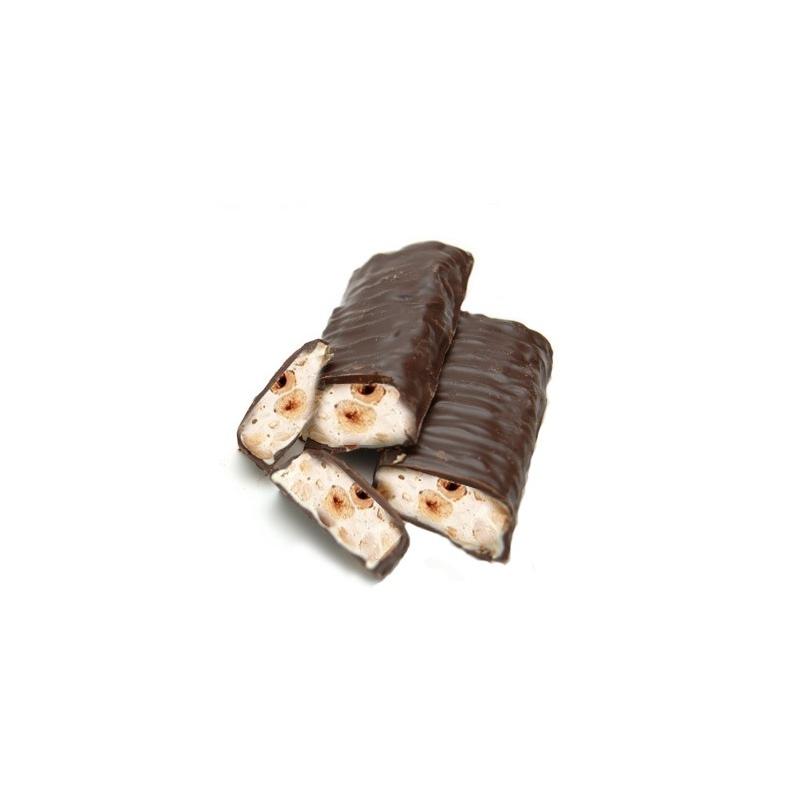 TORRONE alle nocciole ricoperto di cioccolato gr 300