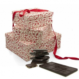 Gift box with meditation wine and chocolate