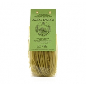 Linguine with garlic and basil 250 gr - Pastificio Morelli