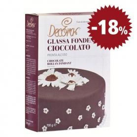 sombre glaçage au chocolat, 700 gr