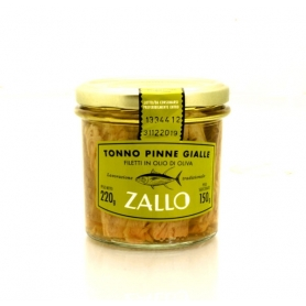 Yellowfin tuna fillets in olive oil, 220 gr