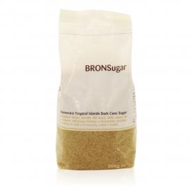 BronSugar - Zucchero di canna bruno qualità Demerara 500 gr