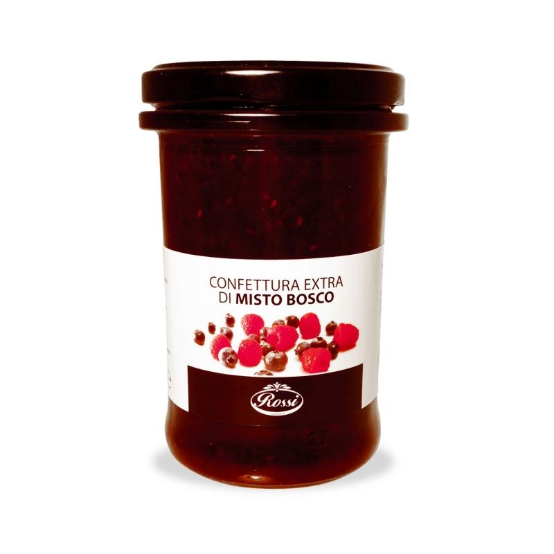 Confettura Extra Misto Bosco (Lamponi e Mirtilli), 350 gr - Rossi
