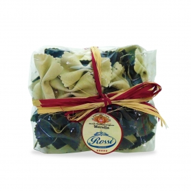 Farfalle with cuttlefish ink, 250 gr-Marella