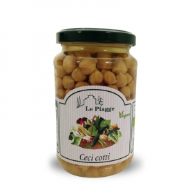 cooked chickpeas, 350 gr - Le Piagge