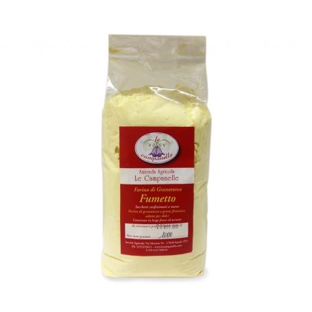 Polenta Fumetto - Farina di granoturco ideale per dolci, 1 kg. - Az. Agr. Le campanelle