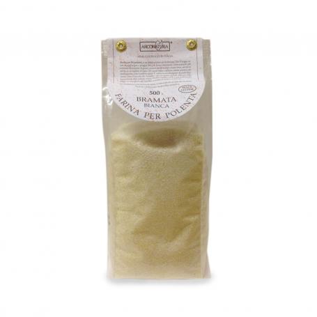 Polenta Bramata White - Corn flour, 500 gr. - Farine di Mais e Polenta