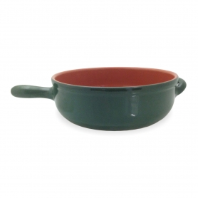 Terracotta pots piral - rôtissoire avec poignée 32 cm - vert