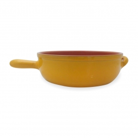 Pentole in Terracotta Piral - Tegame alto con manico 32 cm - colore giallo