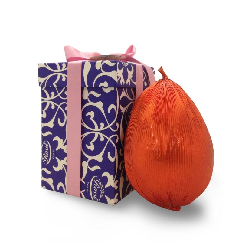 Uovo di Pasqua artigianale Rossi in scatola regalo, fondente extra spesso, 1 kg
