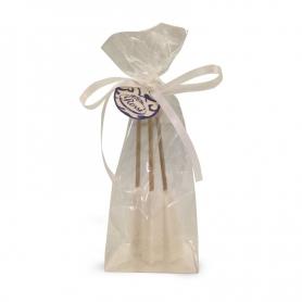 Bastoncini di zucchero cristallizzato bianco, 3 pezzi