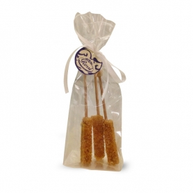 Sticks of crystallized brown sugar, 3 pieces.