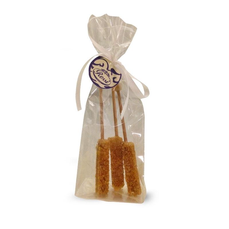 Bastoncini di zucchero di canna cristallizzato, 3 pezzi.